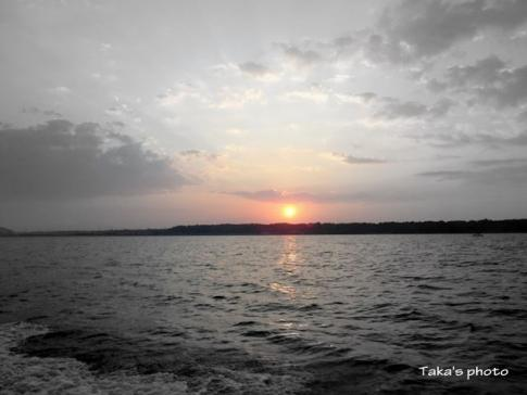 浜名湖の夜明け