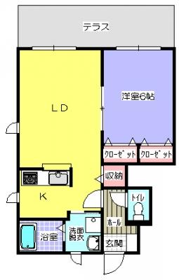メゾンたまき110(1F-1LDK-角)