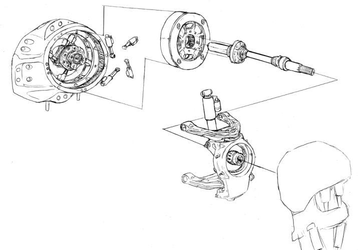 12式・股関節駆動系(油圧ver)