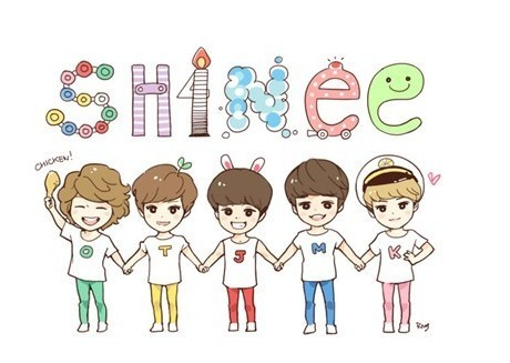 fanart SHINee member so cute