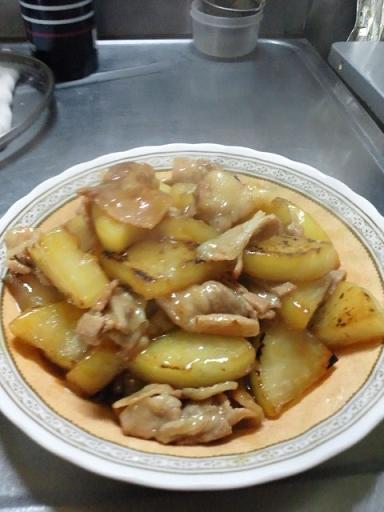 大根と豚バラ肉の炒め 002