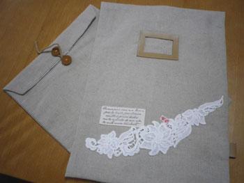 無料型紙 書類が入る布封筒