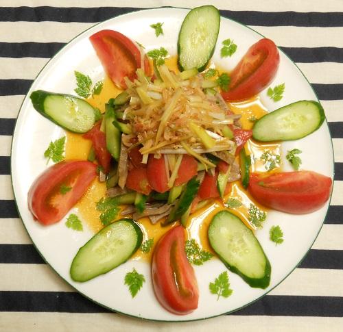レバーと野菜のサラダ6