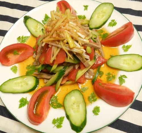 レバーと野菜のサラダ7