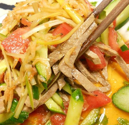 レバーと野菜のサラダ8