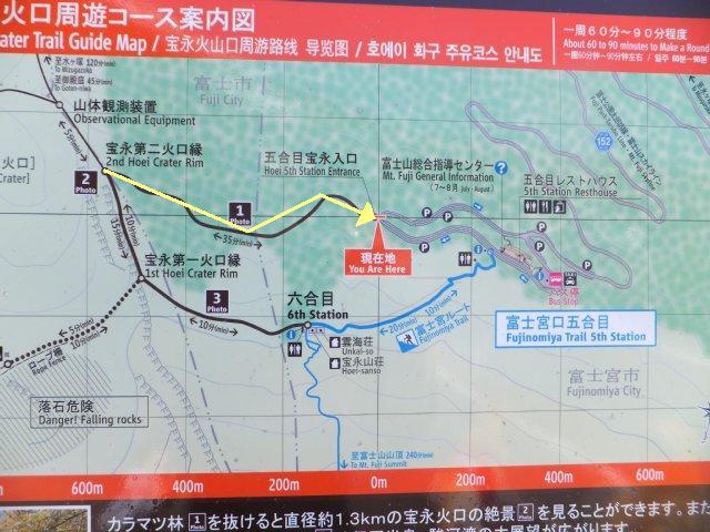 宝永火口周遊コース 地図