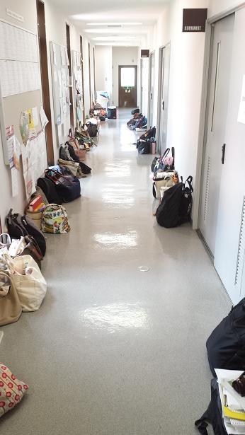 テスト期間の廊下