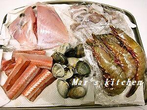 12-22 トマト鍋用魚介