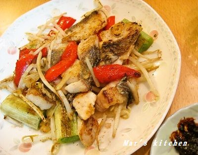 3-13 シロニベ ゴマ油炒め