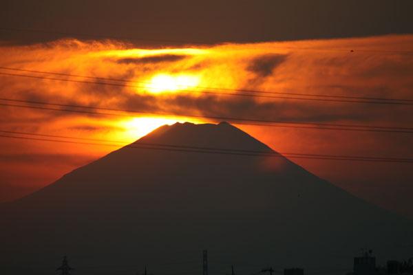 練馬から見える富士