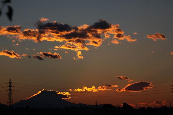 練馬から見た富士