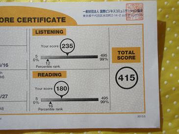 TOIEC初受験 Score