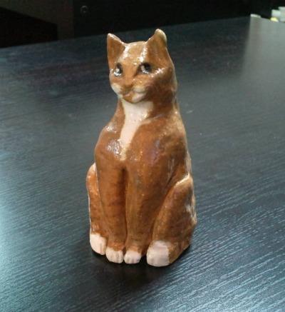 a黄座り猫3--1000559