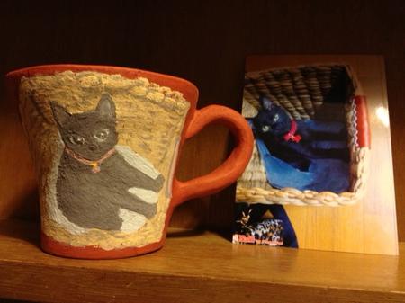 黒猫マグと写真