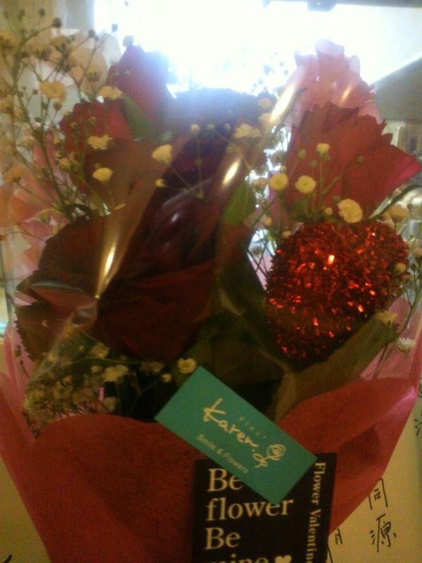 バレンタイン花束