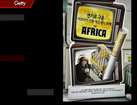 KOREAN CIGARETTE FIRM PULLS RACIST MONKEY ADS