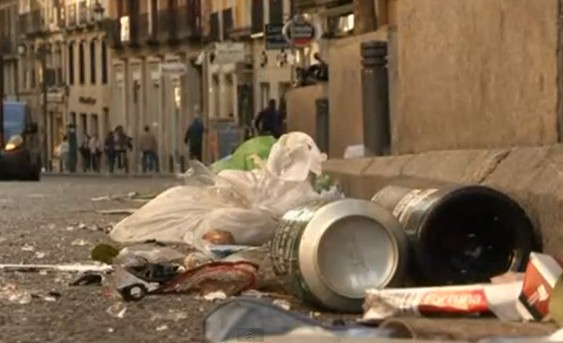 Trash Piles Up In Madrid As Garbage Collectors Continue Strike