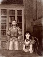 荘園の娘と庭師の青年