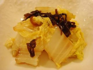 白菜と塩こんぶのゴマ油和え