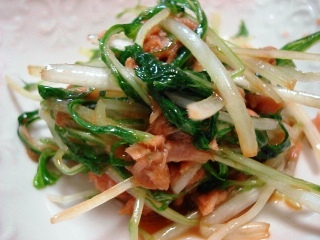 水菜とツナの和え物