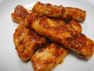 豚肉のマスタードケチャップ炒め