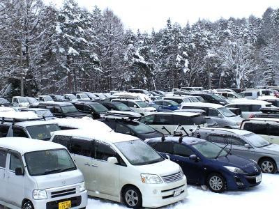 満杯の駐車場(25.1.20)