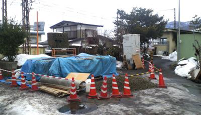 夜間瀬駅トイレ改修工事(25.2.2)