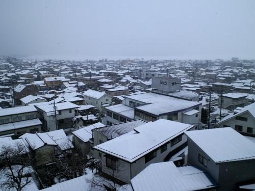 雪の下諏訪の町(25.2.6)