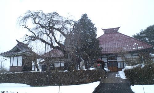 雪の隆谷寺(25.2.8)