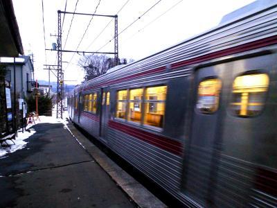 5時24分湯田中行き発車(25.2.12)