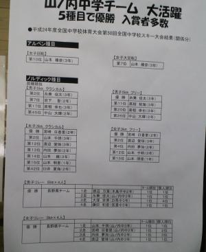 役場入り口の張り紙(25.2.18)