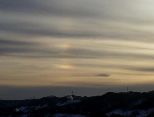 2月26日17時の幻日環(25.2.26)