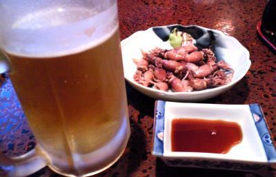 ホタルイカと生ビール(25.3.10)