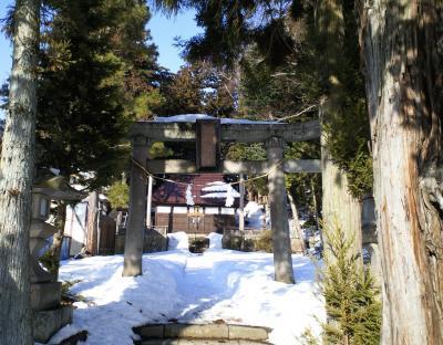 諏訪八幡社入り口(25.3.11)