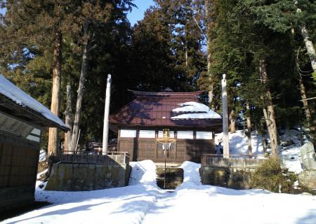 諏訪八幡社と御柱(25.3.11)
