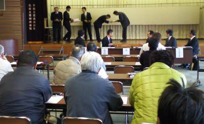 ぶどう部会総会(25.3.15)