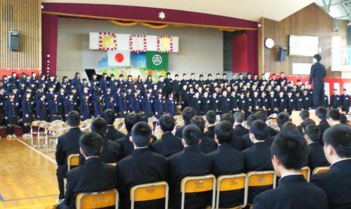 卒業生合唱「旅立ちの日に」(下)(25.3.19)