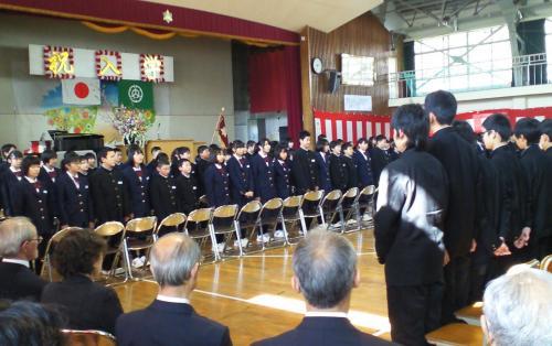 山ノ内中学校対面式(25.4.4)