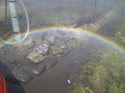 虹を作ってた♪(25.4.13)
