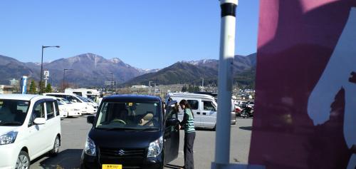 道の駅ののぼり旗撤去(25.4.28)