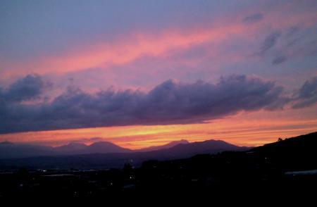 北信五岳の夕日(25.4.30)
