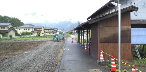旧線路敷き工事中(25.6.19)