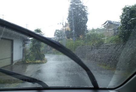 どしゃ降りの雨(25.6.25)