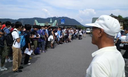 桐光学園中学校農業体験開校式(25.7.17)