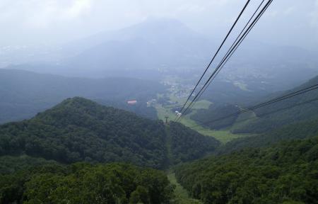 竜王スキーパークを見下ろす(25.7.31)