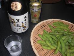 大七きもと箕輪門と枝豆