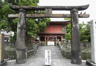 グラフィックス3与賀神社三の鳥居及び石橋