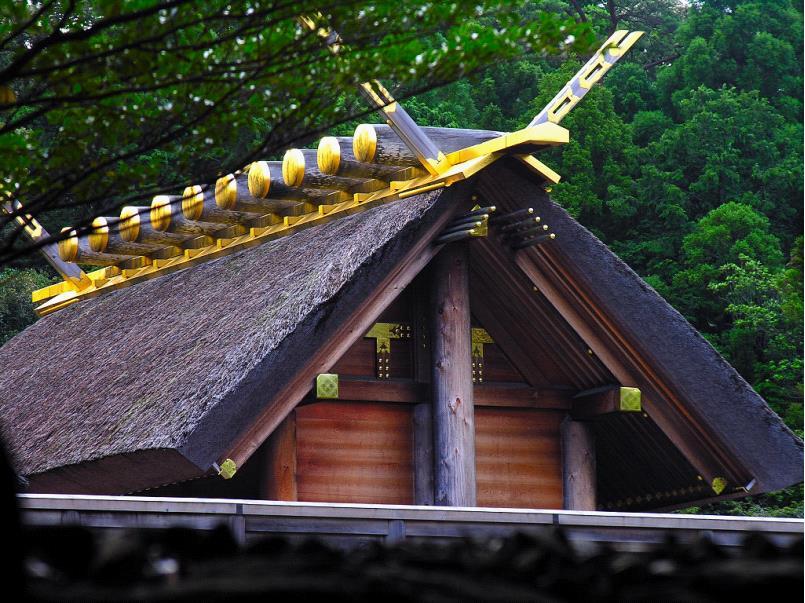 神社はじめに 伊勢神宮屋根