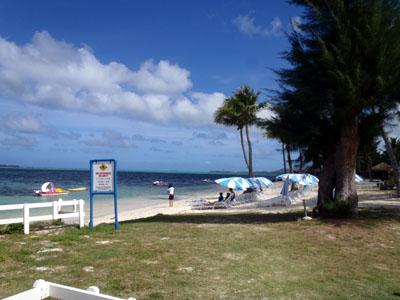 グランドのビーチ