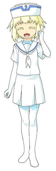 エレメントハンター ユノ:スカートじゃなくてズボンだと思うけど、資料が、ねぇんだよ・・・